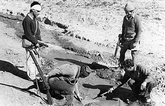 Simcha Blass - checking the sabotaged water pipeline to the Negev isolated settlements,1948