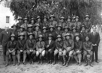 Betar - Vladimir Jabotinsky in the company of Betar commanders, Palestine
