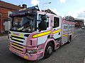 Pink fire engine, Walton Breck Road, Liverpool.jpg