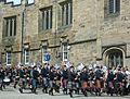Pipe band, Castlehill Edinburgh.JPG