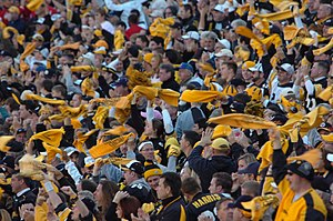 Terrible Towel - Steelers fans waving the Terrible Towel at Heinz Field — October 15, 2006