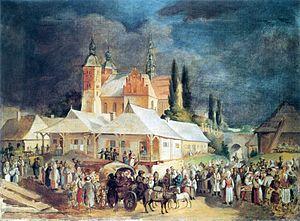Jan Feliks Piwarski - Image: Piwarski Targ w Opatowie