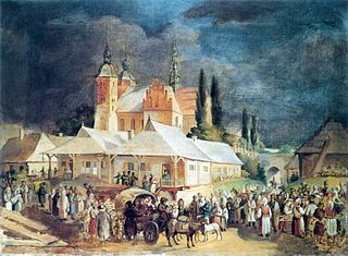 Market in Opatów.