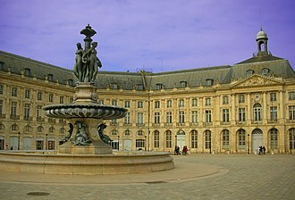Gironde - Image: Place Bourse Bordeaux boosted colours