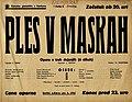 Plakat za predstavo Ples v maskah v Narodnem gledališču v Maribor 8. junija 1940.jpg