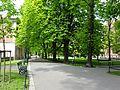 Planty-WidokSpodWaweluWStronęUlFranciszkańskiej-Wiosna-POL, Kraków.jpg