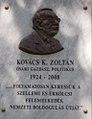 Plaque-relief of Zoltán K. Kovács by Ferenc Lebó, 2017 Mosonmagyaróvár.jpg