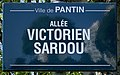 Plaque Allée Victorien Sardou - Pantin (FR93) - 2021-04-27 - 1.jpg
