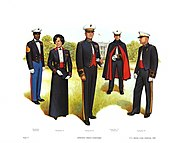 Plate V, Evening Dress Uniforms - U.S. Marine Corps Uniforms 1983 (1984), by Donna J. Neary