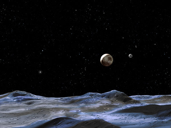 pluto's moons orbit - HD 4000×3000