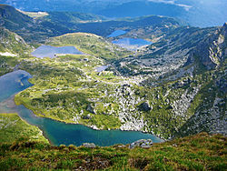 The Seven Rila Lakes in Bulgaria
