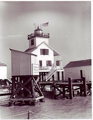 Point Au Fer Reef Light - Image: Point Au Fer Reef 1945 LA