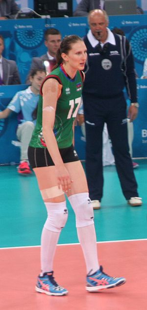 Polina Rahimova - Image: Polina Rahimova at the 2015 European Games