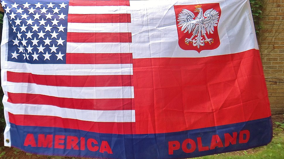 Polish American flag