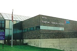 Pontiac Transportation Center - The former transportation center building in 2002