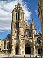 Pontoise (95), cathédrale Saint-Maclou, façade ouest, depuis la rue de la Coutellerie.jpg