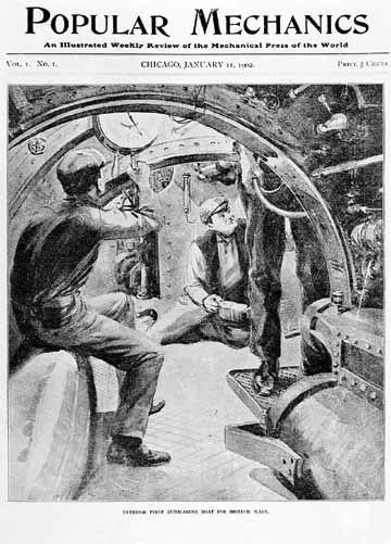 Popular Mechanics Cover Vol 1 Issue 1 11 January 1902