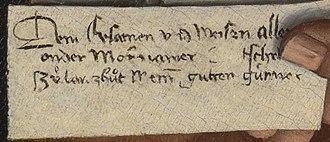 Master of the Mornauer Portrait - Image: Portrait of Alexander Mornauer letter