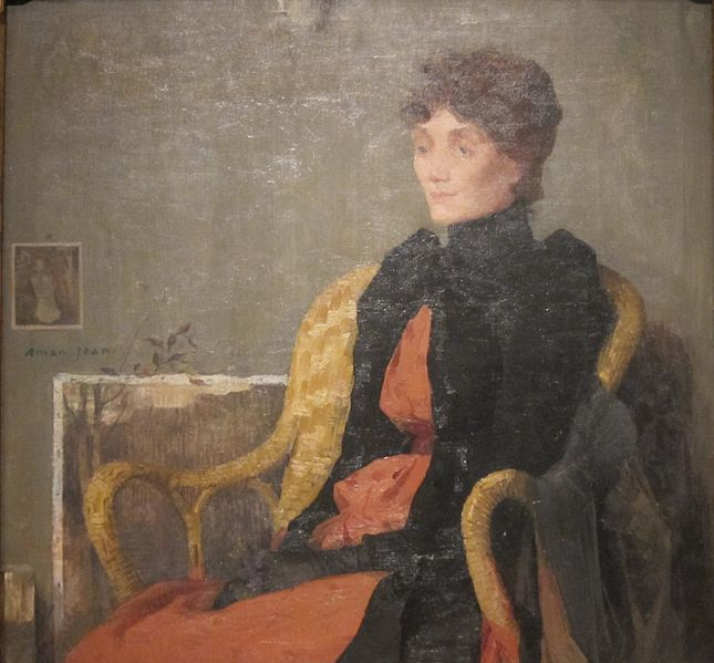 File:Portrait of a Woman, oil painting by Edmond François Aman-Jean, 1891, Cleveland Museum of Art.JPG