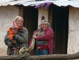 Garhwali people - Portrait of a couple in a village at Uttarakhand,India