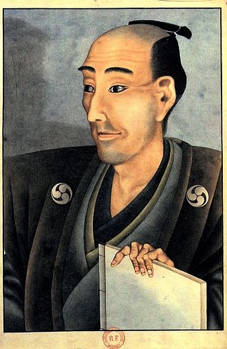 Chonmage - Portrait of a man with chonmage haircut from the Edo period