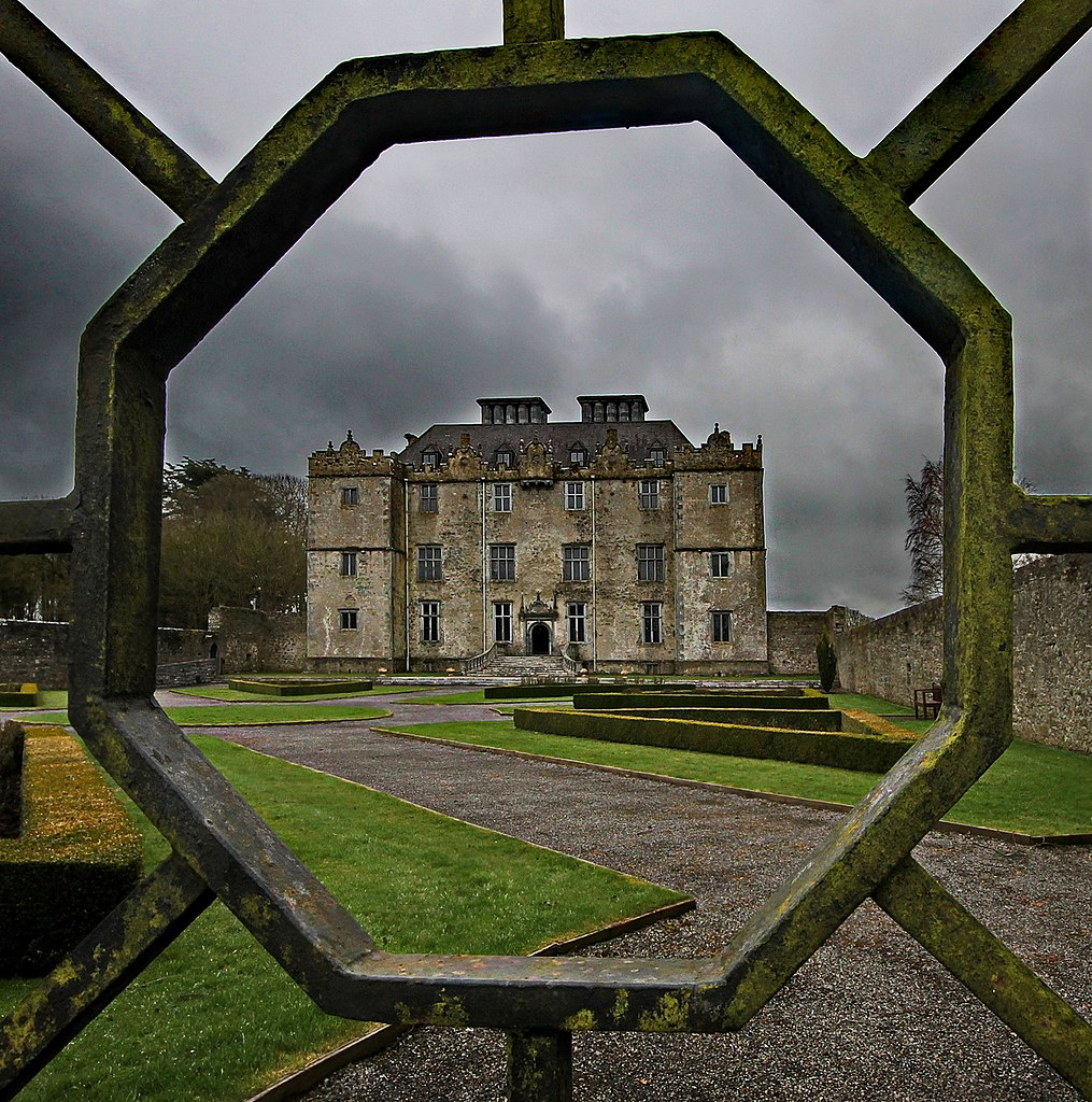 Portumna Castle on a gloomy day