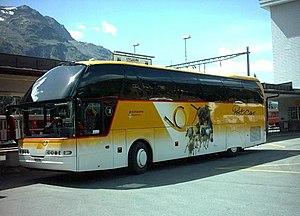 St. Moritz (Rhaetian Railway station) - Image: Postbus