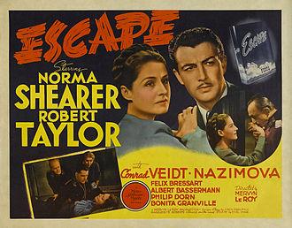 Escape (1940 film) - Lobby card