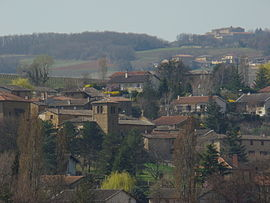 A general view of Pouilly-le-Monial