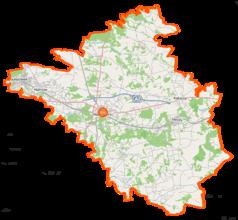 Mapa lokalizacyjna powiatu mińskiego