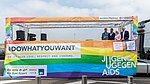Präsentation Paradetruck Jugend gegen AIDS zur ColognePride 2018 am Köln Bonn Airport-7252.jpg