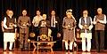 Pranab Mukherjee, the Vice President, Shri M. Hamid Ansari, the President-elect, Shri Ram Nath Kovind and the Prime Minister (3).jpg