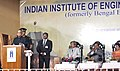 Pranab Mukherjee addressing at the inauguration of the Indian Institute of Engineering Science and Technology (IIEST), at Shibpur, Howrah, in West Bengal. The Director, IIEST, Shibpur, Prof. Ajoy Kumar Ray, the Chairman.jpg