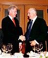 President Bill Clinton at a dinner hosted by Prime Minister Benjamin Netanyahu.jpg