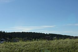 Panorama of Priddis from the Cowboy Trail