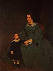 Retrato de Cecilia R. de Peralta Ramos y su hijo