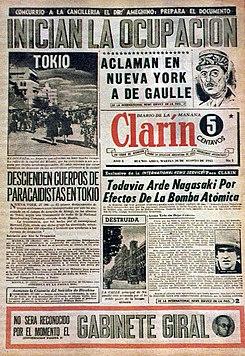 Clar n peri dico wikipedia la enciclopedia libre for Revistas del espectaculo argentino