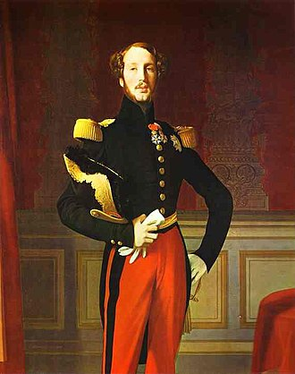 Maria Amalia of Naples and Sicily - Image: Prince Ferdinand Philippe, Duke of Orléans by Ingres, 1832