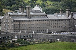 Dartmoor Prison, where Humphreys spent four and a half years (2017 photograph) Princetown - HM Prison Dartmoor (geograph 5487986).jpg