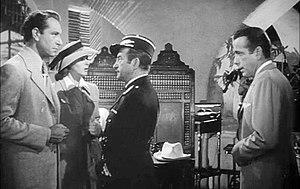 Casablanca (film) - From left to right: Henreid, Bergman, Rains and Bogart
