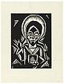 "Print, Christos Zehajici, Christ, Plate III, ""Ethiopie, cili Christos, Madonna a Svati, jak jsem ie videl v illuminacich starych ethiopskych kodexu"" Portfolio, 1920 (CH 18684913).jpg"