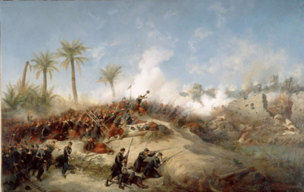 The conquest of Algeria Prise de la Zaatcha (1849).png