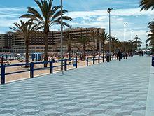 Paseo de Gómiz, playa del Postiguet