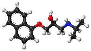 Propranolol - Image: Propranolol ball and stick model