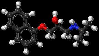 Propranolol - Image: Propranolol ball and stick model