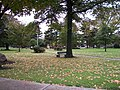 Public park with war memorial in Summit New Jersey 2009.jpg