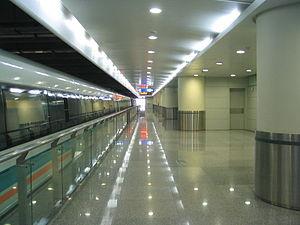Pudong International Airport Station - The Shanghai Maglev Train platform at Pudong International Airport station.