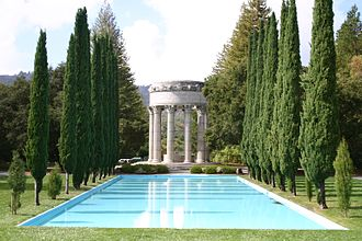 Pulgas Water Temple - temple with reflecting pool