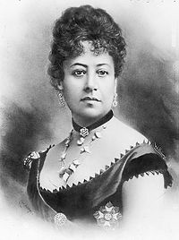 Queen Emma of Hawaii, retouched photo by J. J. Williams
