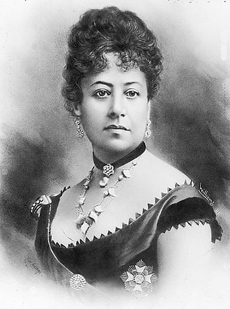 Queen Emma of Hawaii - Image: Queen Emma of Hawaii, retouched photo by J. J. Williams